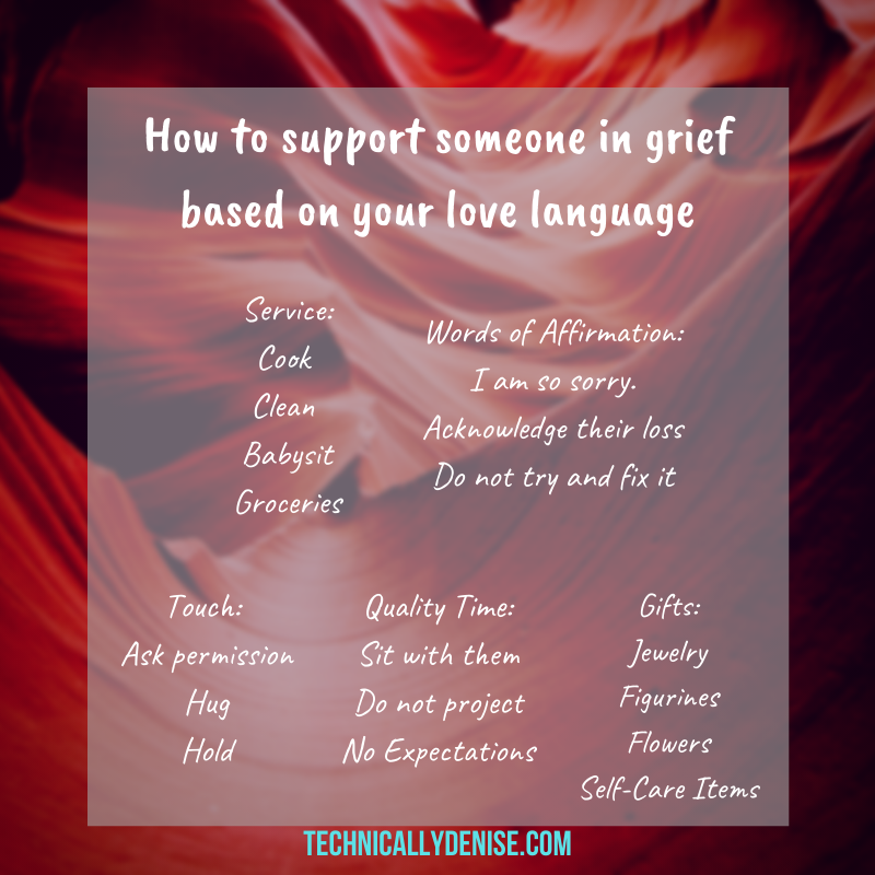 How to support someone in grief based on your love language
